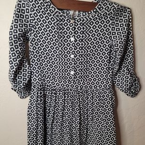 Carter's Navy Blue & White Abstract Dress Sz 5
